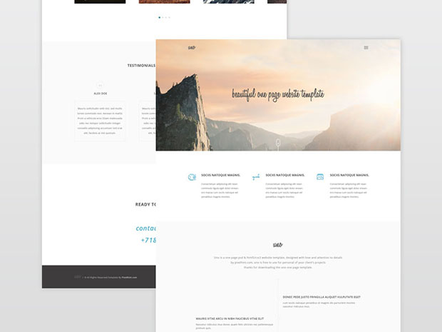 Uno-Single-Page-Website-Freebie