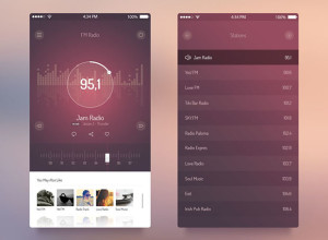 iOS-7-App-FM-Radio-UI