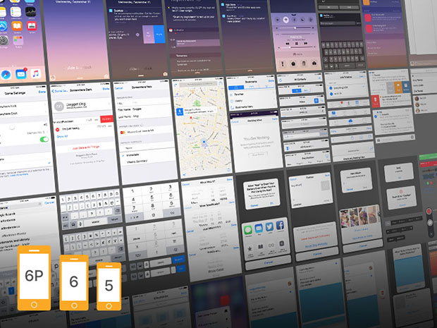 iOS-9-Complete-UI-free-PSDs-for-iPhone-5,-6-and-6-Plus
