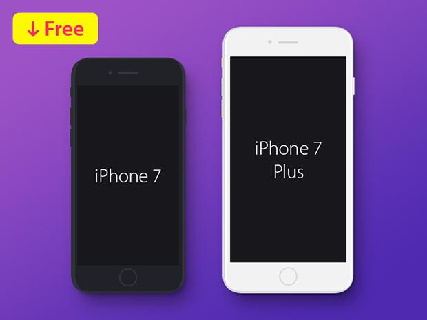 iphone-7-iphone-7-plus-flat-mockup-free